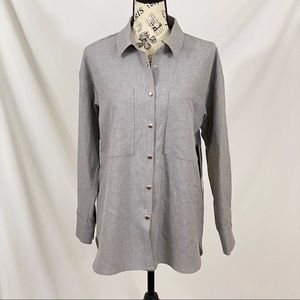 Doe & Rae Think Gray Flannel with Snap Buttons